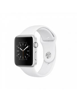 Apple Watch Series 2, caja de aluminio en plata y correa deportiva blanca
