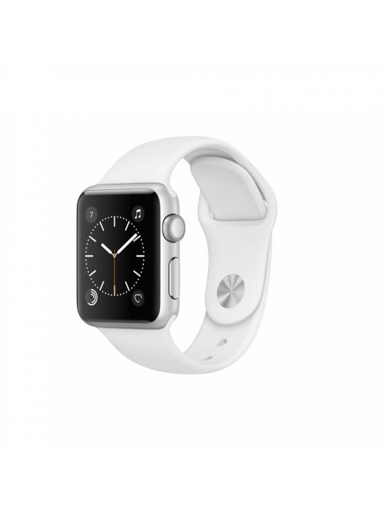 Apple Watch Series 1, caja de aluminio en plata y correa deportiva blanca