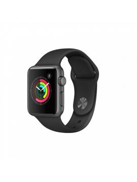 Apple Watch Series 1, caja de aluminio en gris espacial y correa deportiva negra