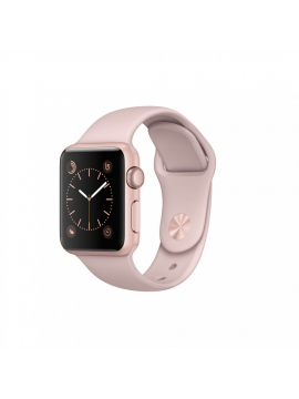 Apple Watch Series 1, 38 mm, caja de aluminio en oro rosa y correa deportiva rosa arena