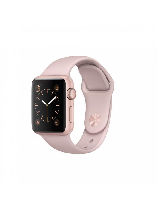 Apple Watch Series 1, 38 mm, caja de aluminio en oro rosa y correa deportiva rosa arena