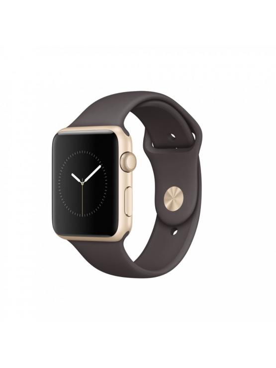 Apple Watch Series 1, 42 mm, caja de aluminio en oro y correa deportiva cacao