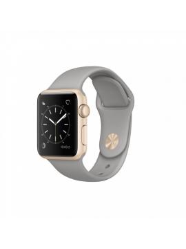 Apple Watch Series 2, 38mm, caja de aluminio en oro y correa deportiva gris cemento