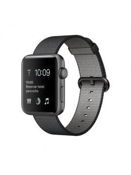 Apple Watch Series 2, caja de aluminio gris espacial y correa de nailon trenzado negra