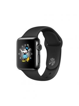 Apple Watch Series 2, caja de acero inoxidable negro espacial y correa deportiva negra espacial