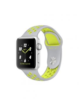 Apple Watch Nike+, caja de aluminio en plata y correa Nike Sport plata/voltio