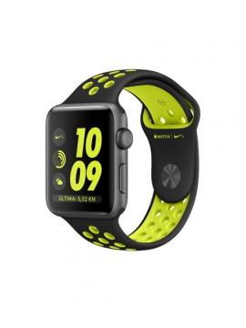 Apple Watch Nike+, caja de aluminio en gris espacial y correa Nike Sport negra/voltio