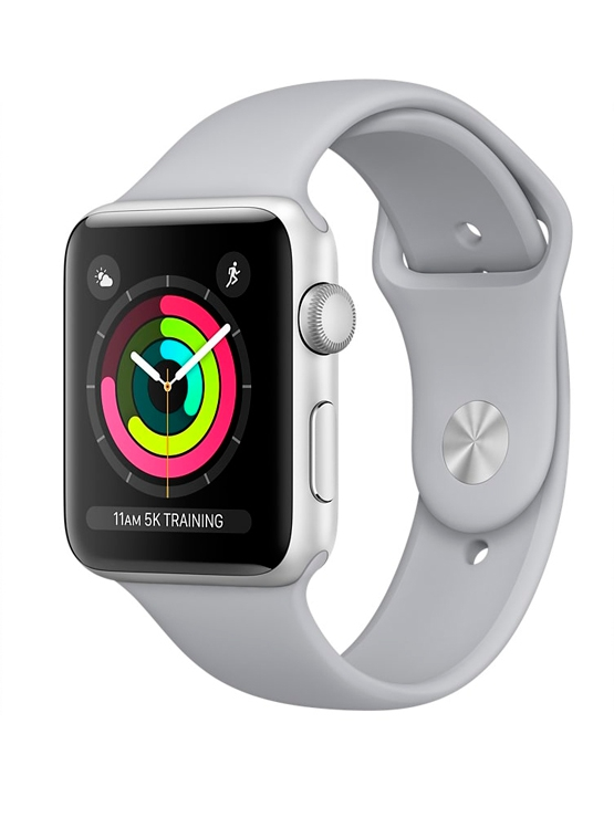 Apple Watch Caja Aluminio plata y correa deportiva gris luminoso