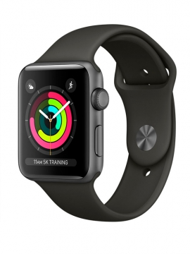 Apple Watch Series 3 GPS, Aluminio gris espacial y correa deportiva gris
