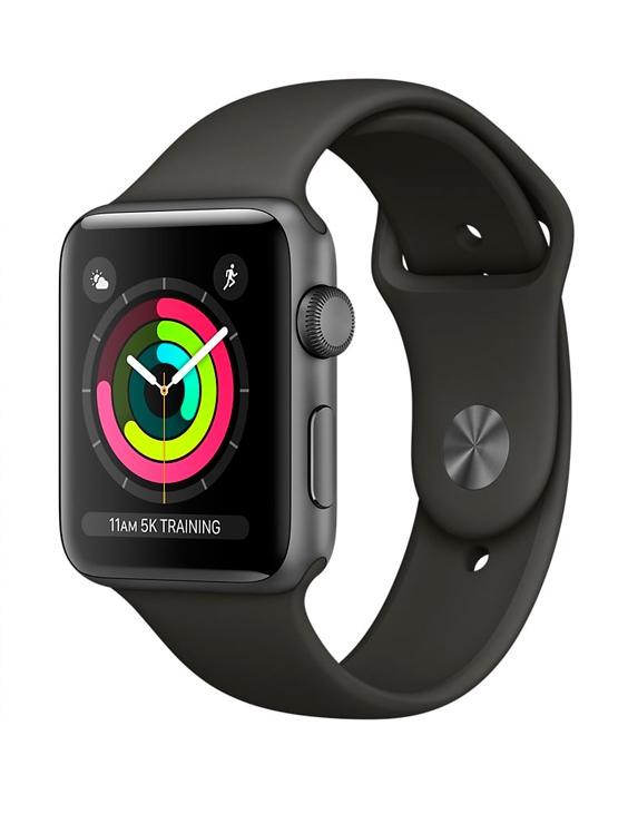 Apple Watch Series 3 GPS, Aluminio gris espacial y correa deportiva gris