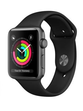 Apple Watch Series 3 GPS, Caja Aluminio gris espacial y correa deportiva negra