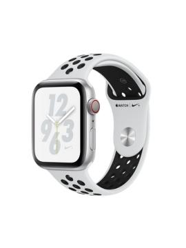 Apple Watch Nike+ Caja de aluminio en plata y correa Nike Sport platino puro/negra