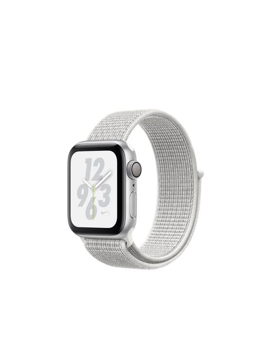 Apple Watch Nike+ Caja de aluminio en plata y correa Loop Nike Sport blanco polar