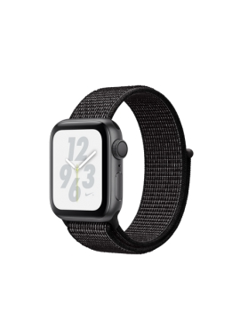Apple Watch Nike+ Caja de aluminio en plata y correa Loop Nike Sport blanco polar