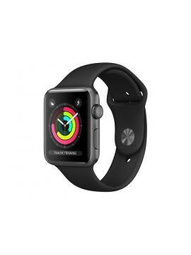 Apple Watch Series 3 GPS + Cellular Gris espacial, con caja de aluminio y correa color negro Sport
