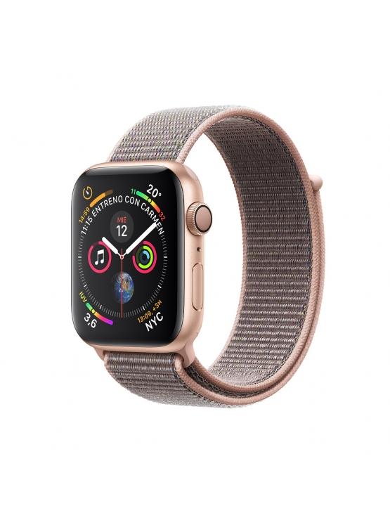 Apple Watch Caja de aluminio en oro y correa Loop deportiva rosa arena