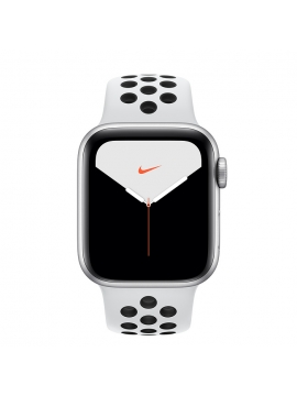 Apple Watch Series 5, Caja de aluminio, correa Nike Sport blanca